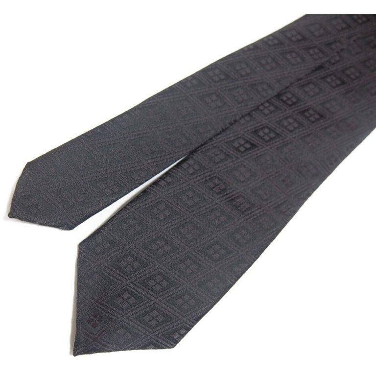 kikagaku-tie-hishimon-black